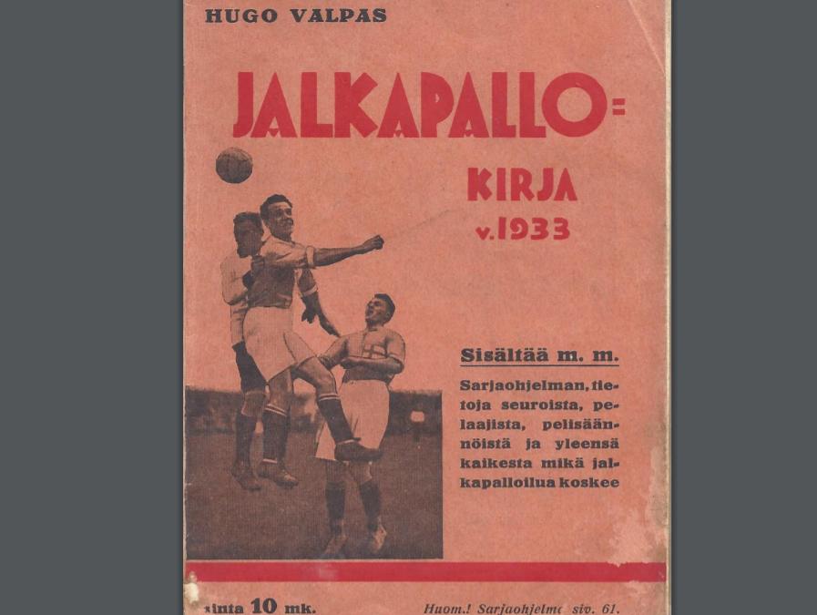 Jalkapallokirja 1933 kansi