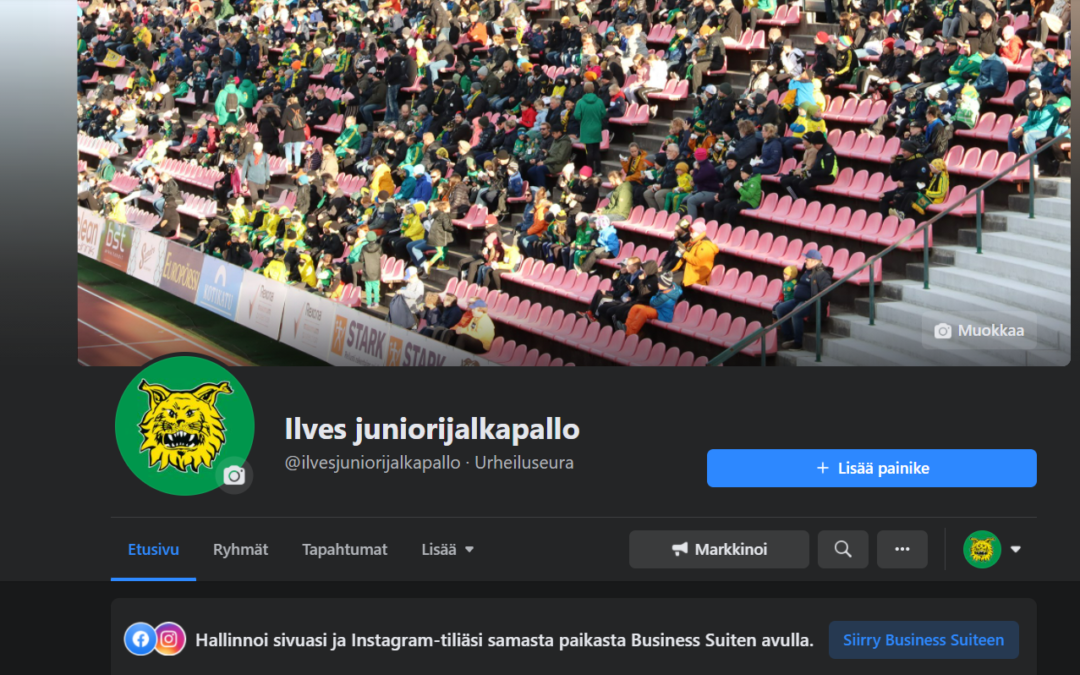 Ilves juniorijalkapallon Facebook sivut muokattu