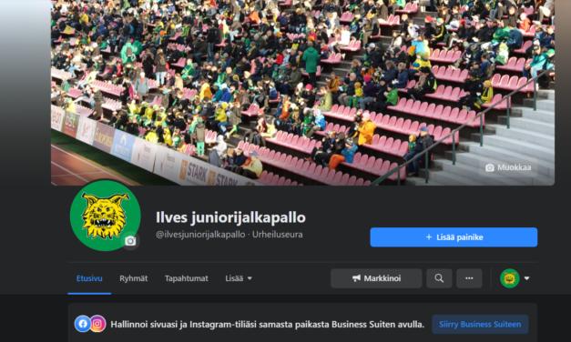 Ilves juniorijalkapallo sai uudet Facebook-sivut – tsekkaa ja tykkää!